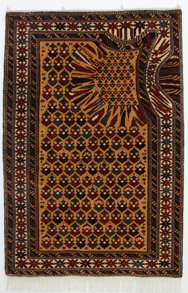 Hollow, Faig Ahmed's handmade woollen rug with a twist, made in 2011.