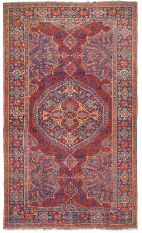 Medallion Ushak carpet, west Anatolia, 17th century.