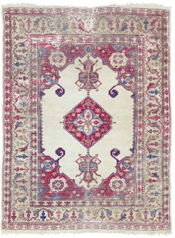 West Anatolian small-medallion rug, 17th century