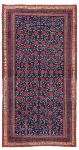 Yarkand carpet, East Turkestan, 18th/19th century.