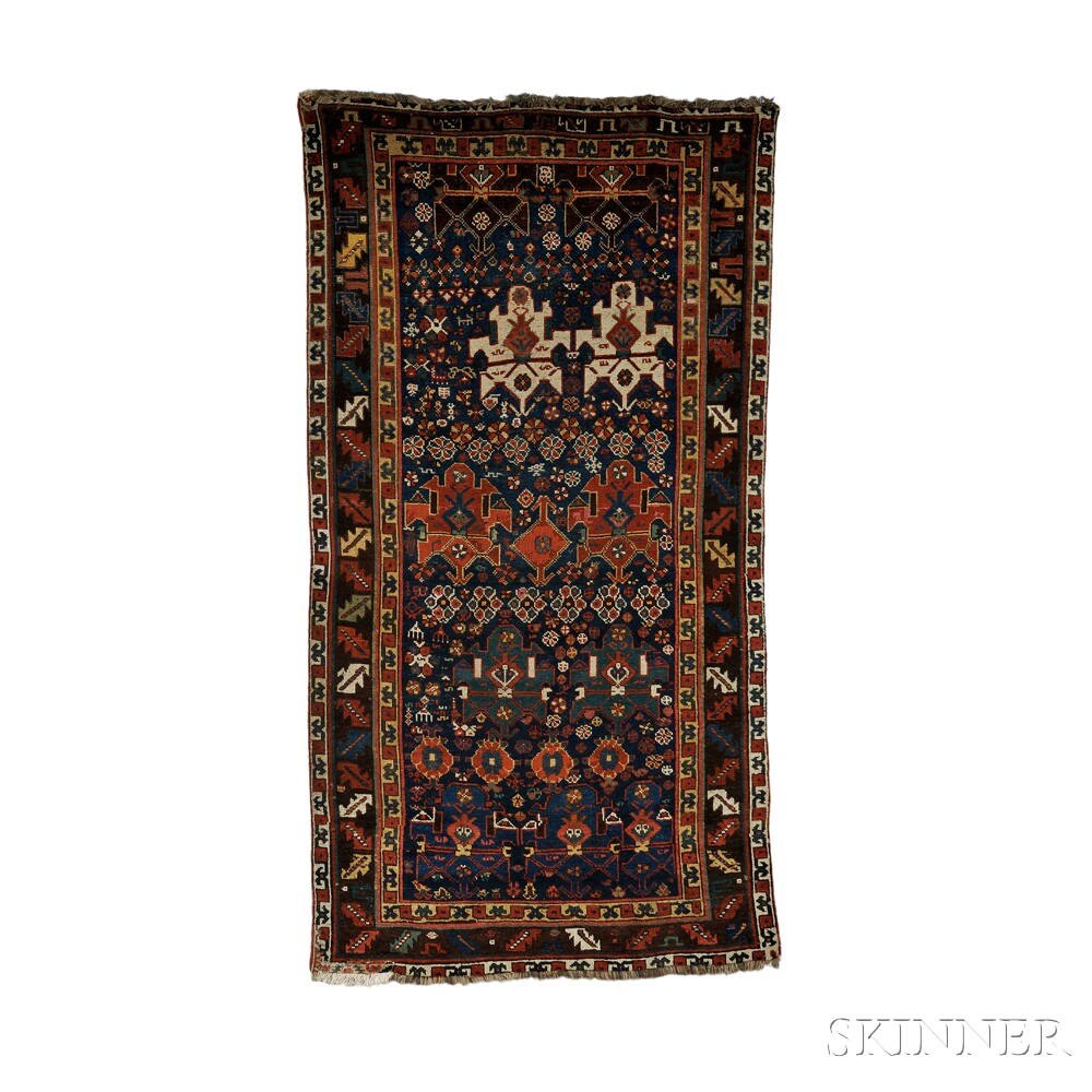 Trans-Caucasian rug, last quarter 19th century, (small areas of flat-stitch restoration, outer guard stripe partially missing from both ends, small end patch), 8 ft. 6 in. x 4 ft. 6 in. Lot 248, estimate $1,200-1,500