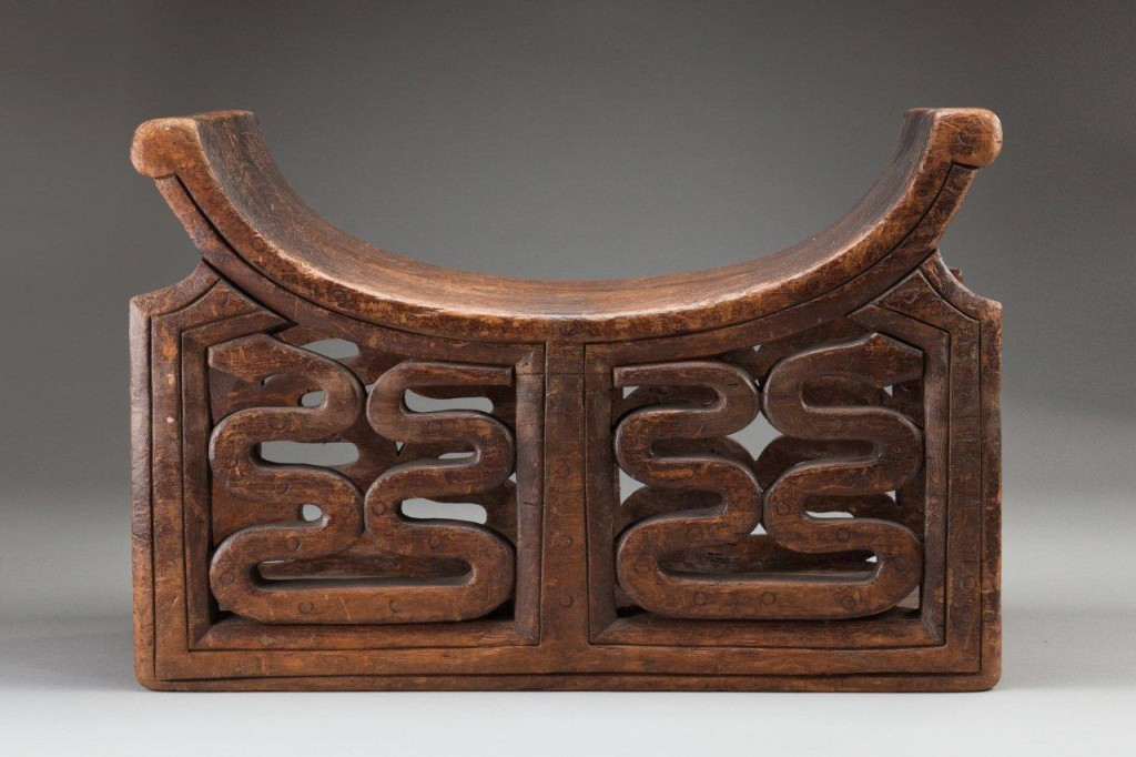 Ceremonial stool, 21.5x14ins,54.5x36 cms, carved wood, Duala, Cameroon coast, West Africa, c.1900, Ref 5111.