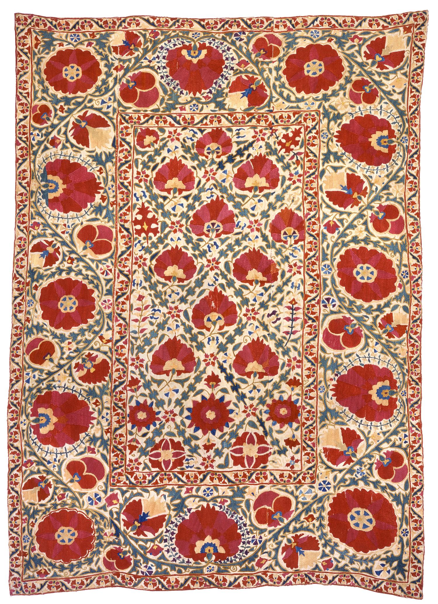 Bukhara suzani, Uzbekistan, 18th century. Esther Fitzgerald, London