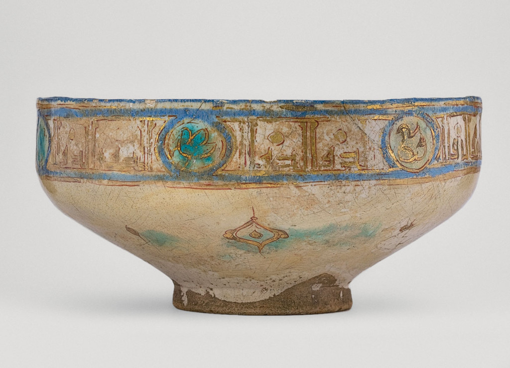 Kashan mina'i ware bowl, Iran, 12th-13th century. IM/K-220