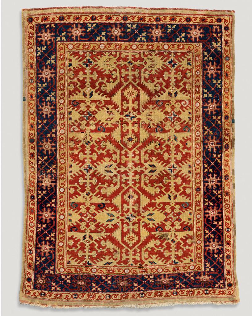 Lotto arabesque rug, Ushak, west Anatolia, Ottoman period, early 17th century