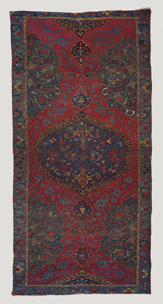 Large-medallion Ushak carpet, west Anatolia, Ottoman period, 17th century