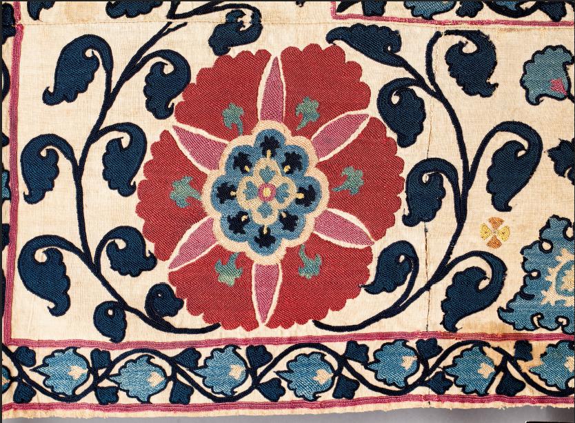 Detail of a Bukhara (?) suzani
