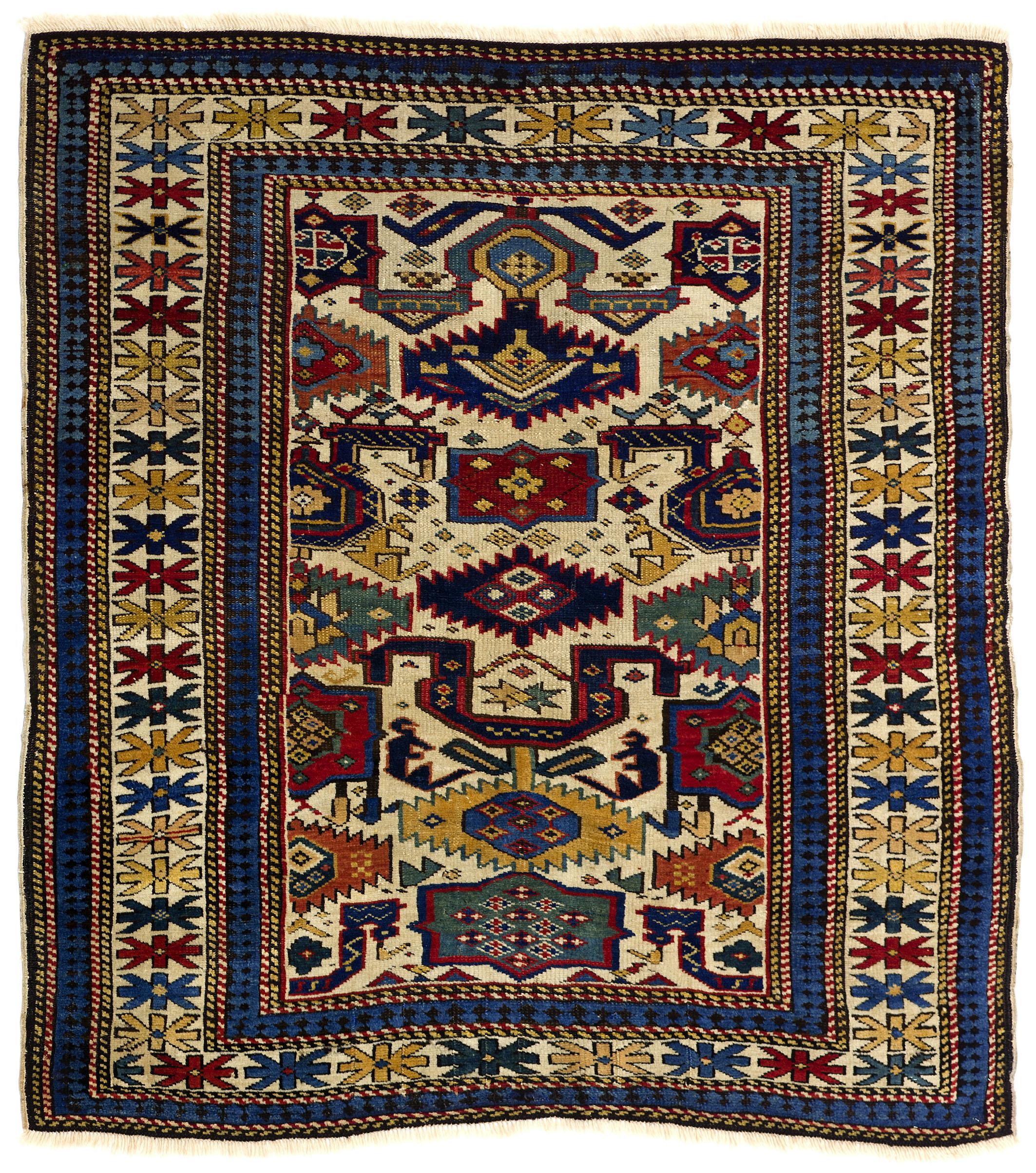 Kuba Or Shirvan Rug Northeast Caucasus 19th Century 110 X 114cm Teppichhaus