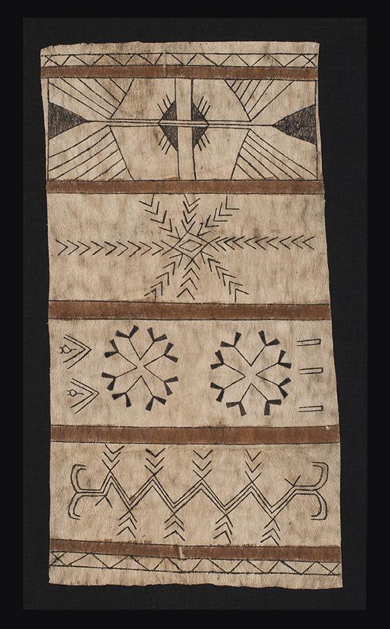 Tapa ( bark clot) panel, possibly Santa Cruz Island, Solomon Isles, Melanesia, c.1900. Clive Loveless