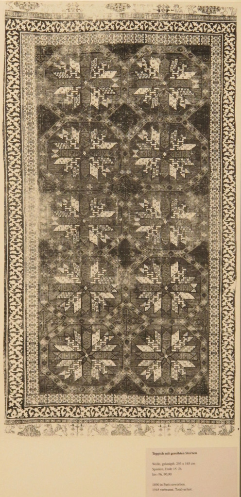 Inv. Nr. KGM 90,90. Spanish carpet (293 x 165 cm) Alcaraz, end of fifteenth century. Acquired 1890 in Paris.