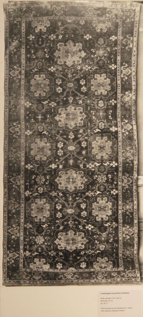 Inv. Nr. I 7. Ushak carpet (430 x 268 cm), Asia Minor, sixteenth to seventeenth century. Acquired 1905 as a gift from Bode.