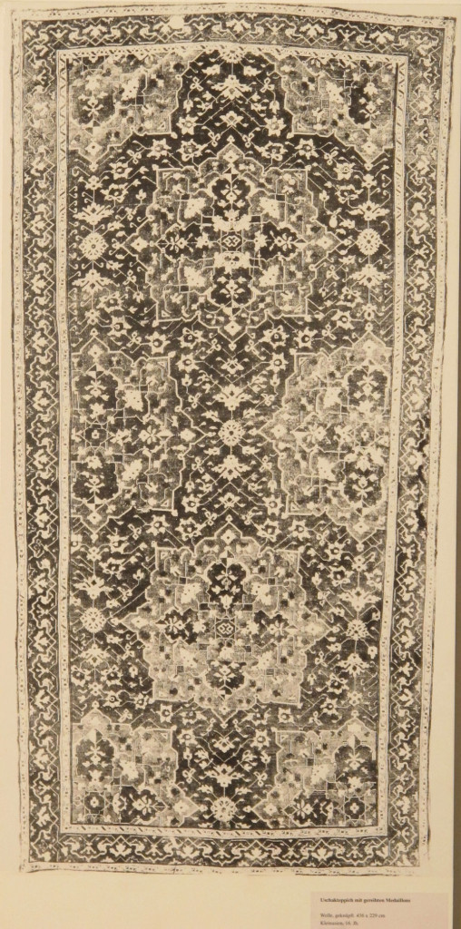 Inv. Nr. I 19. Ushak carpet (436 x 229 cm), Asia Minor, sixteenth century. Acquired 1905 as a gift from Bode.