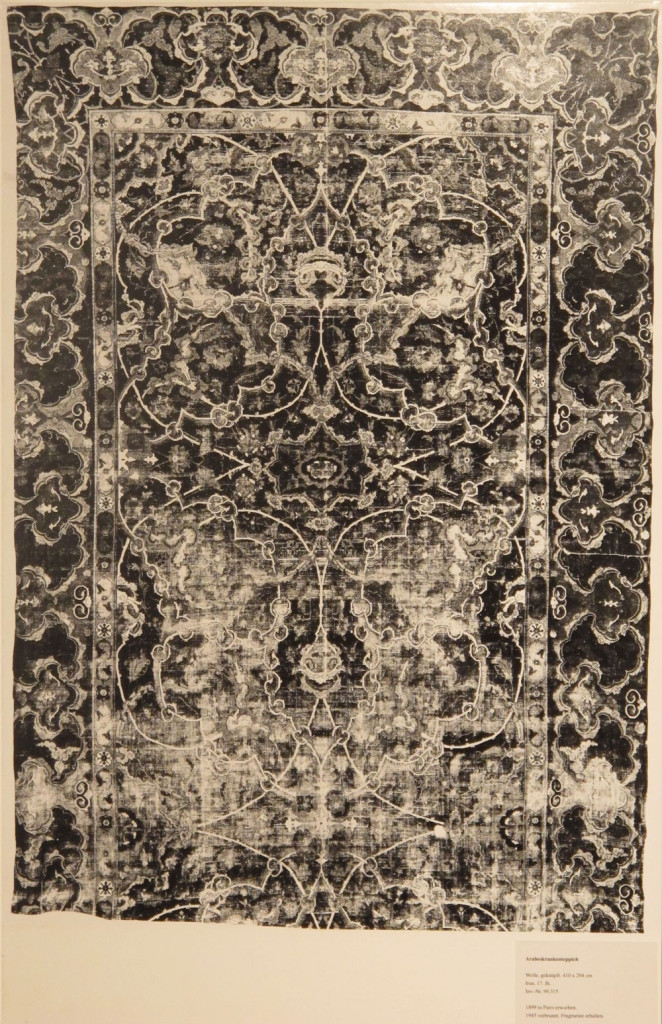 Inv. Nr. KGM 99,315. East Persian carpet (410 x 294 cm), seventeenth century. Acquired 1899 in Paris.