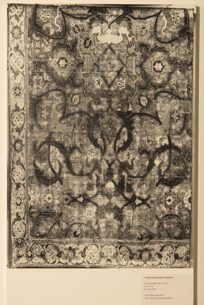 Inv. Nr. I 5055. Persian carpet (306 x 230 cm), sixteenth century. Acquired 1927.