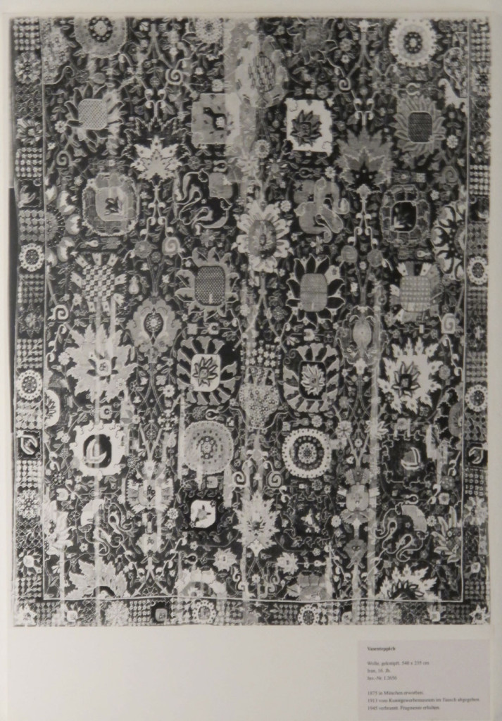 Inv. Nr. I  2656. South Persian carpet (540 x 235 cm), first half of the sixteenth century. Acquired 1875 in Munich.