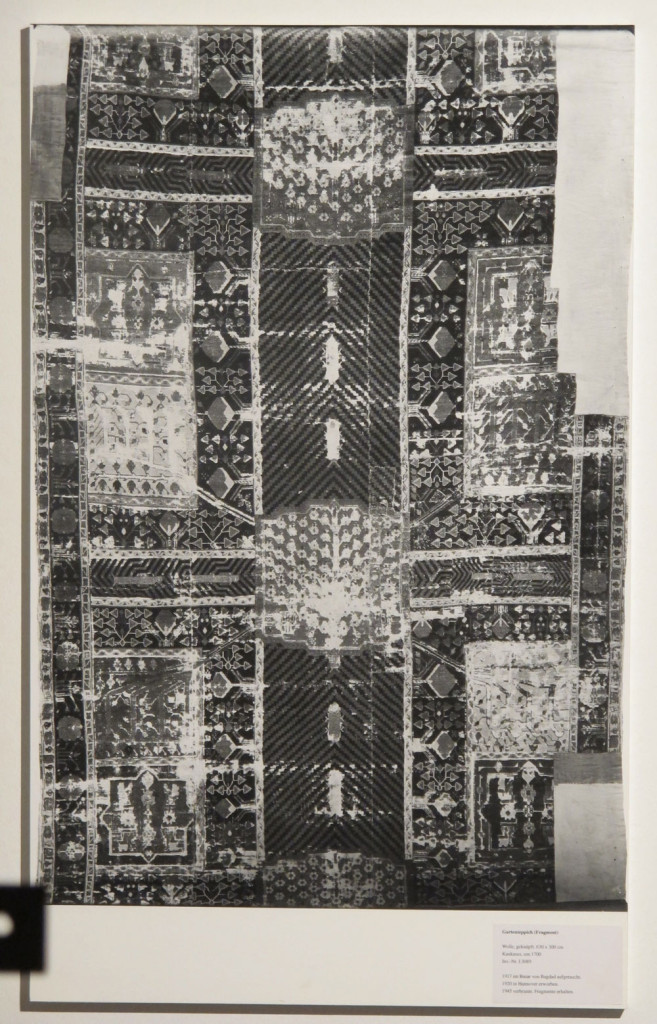 Inv. Nr. I 3089. Garden carpet (630 x 300 cm), North-west Persia, eighteenth century. Acquired 1920, probably from a mosque in Iraq.