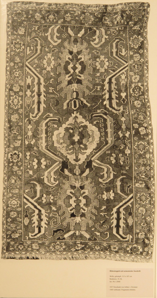 Inv. Nr. I 2840. Caucasian carpet (313 x 187 cm), end of the eighteenth century. Acquired 1917.