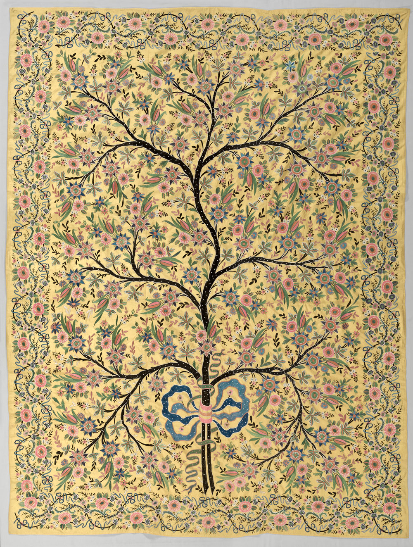 Tree of Life wall hanging, Turkey, 1850–1900. Silk, plain weave ...