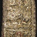 Esfahan coin bag, circa 1800, silver on fabric
