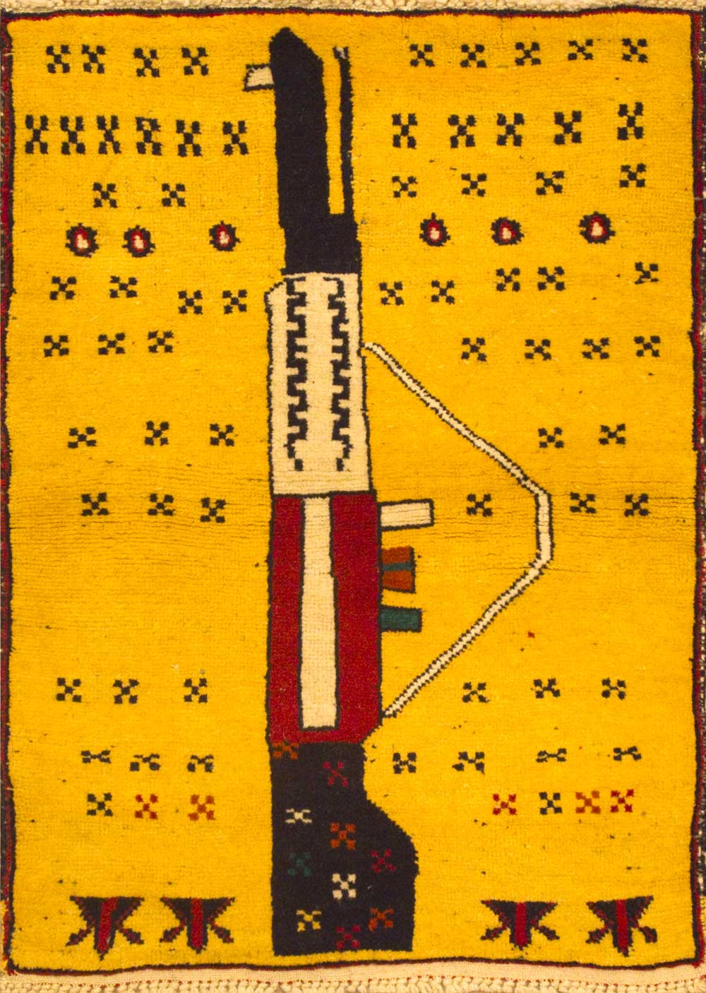 Afghan War Rug, 1980s. The First Production Of War Rugs, Subsequent Soviet  Occupation