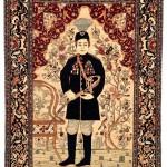 Esfahan pictorial rug, circa 1910, 220 x 145cm