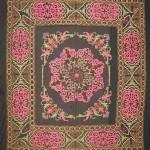 Kirghiz needlework, silk on velvet, 160cm x 160cm