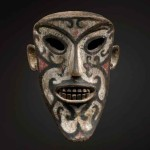 Masterpiece Ritual Mask, Iban Dayak, Borneo, wood, pigment, 19th century, 13 in / 33 cm