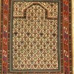 Daghestan prayer rug, Caucasus, 130 x 115cm