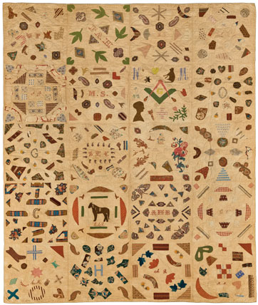 Historical quilts at the Brooklyn Museum of Art - HALI : pictorial quilt - Adamdwight.com