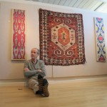Frank Ames taking it easy at Tom Cole's Marin County gallery exhibition