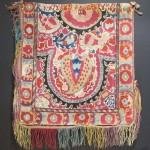 Shahrisyabz (?) cross stitch embroidered cover, Uzbekistan, 19th century. Andy Hale, Santa Fe