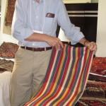 New Yorker Dewitt Mallary shows a silk Persian jajim