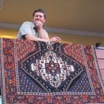 Mette Mutlu with his Afshar rug
