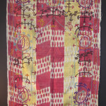 Embroidered ikat niche, Uzbekistan, 19th century, Andy Hale