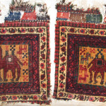 Pair of unusual southwest Persian bags, James Cohen
