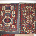 A Zakatala rug, east Caucasus, 19th century next to a Zeikhur rug from northeast Caucasus