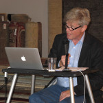 Author and researcher Koos de Jong who gave a lecture at Krimsa Gallery during ARTS