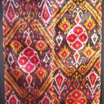 Uzbek velvet ikat panel, 19th century, Andy Hale