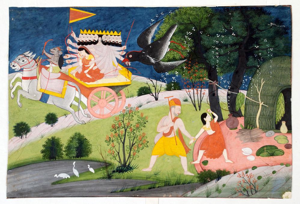 Ravana se lleva a Sita