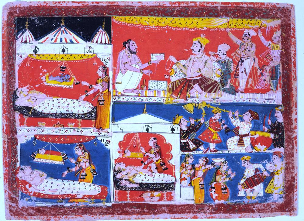 El nacimiento de Rama y sus hermanos