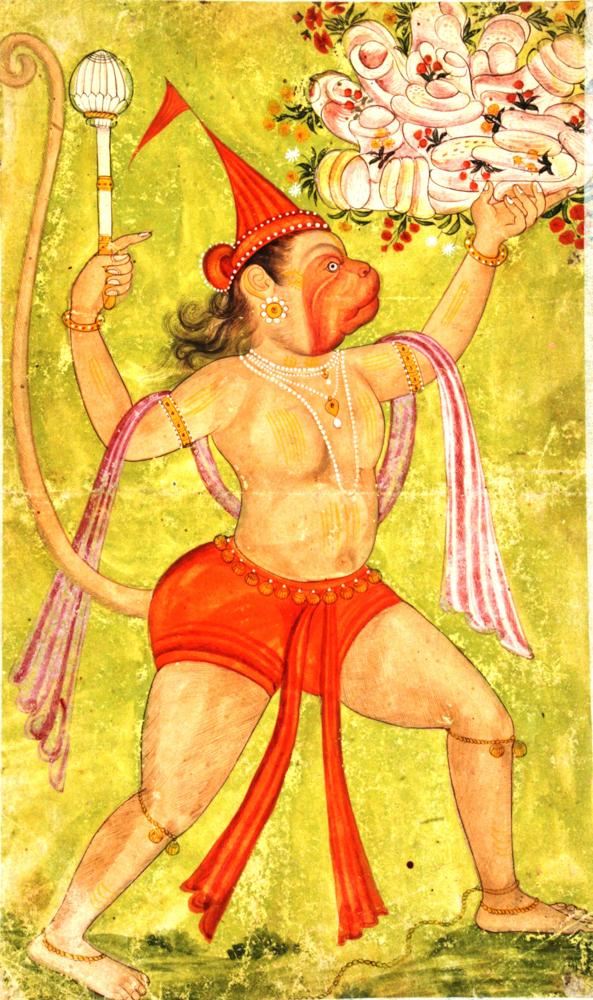 Hanuman juega un papel muy importante en el Ramayana