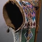 "Cradle (Detail), Kiowa, hide and glass beads, length 29"" Lot 16, estimate $75,000 -125,000"