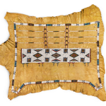 Robe, Sioux, hide and glass beads, 72 x 64"