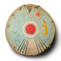 "Shield, Comanche, painted buffalo rawhide, 18"" Lot 18, estimate $300,000 - 450,000"