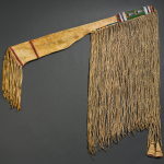 Rifle scabbard, Crow, hide and glass beads, length 40"
