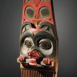 """Comb in beaver form, Tlingit, polychromed wood, 9 3/4 """" Lot 28, estimate $100,000 - 150,000"""