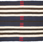 """Man's blanket with second phase chiefs pattern, Navajo, wool, 67 x 52"""" Lot 63, estimate $75,000 - 125,000"""