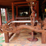 Unique carved loom that the owner of Baan Khampun had made for his mother