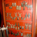 Baan Khampun's collection of charming antique heddle pulleys