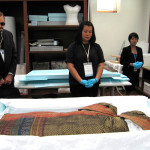 Conservation lab in the Queen Sirikit Museum of Textiles
